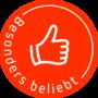 Button besonderBeliebt orange web 170px