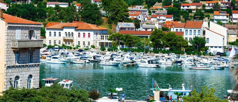 Insel Rab Stadthafen